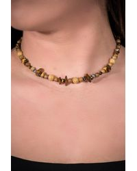 Carolyn Pollack - Sterling Silver Shades Of Brown Gemstone Beaded Necklace - Lyst