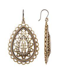 Lucky Brand - Metallic Two-tone Openwork Earrings - Lyst
