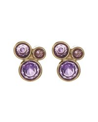 Melinda Maria | Metallic Jasmine Amethyst Cluster Stud Earrings | Lyst