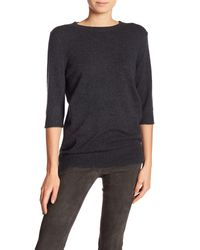 Vince - Black 3/4 Sleeve Cashmere Sweater - Lyst
