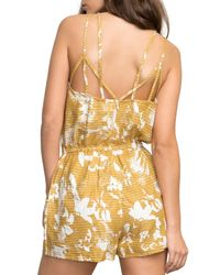RVCA - Metallic Hot Water Print Romper - Lyst