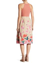 Lands' End - Multicolor Floral Pattern Midi Skirt - Lyst