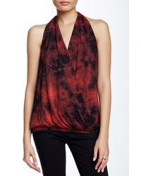 Go Couture - Red Low Neck Cross Top - Lyst