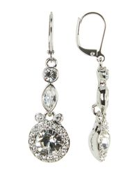 Givenchy - Multicolor Small Double Drop Crystal Earrings - Lyst