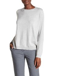 GANT - Gray Knit Front Shirt - Lyst