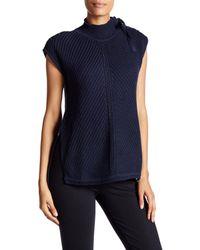 Jessica Simpson | Blue Elin Lace-up Cap Sleeve Sweater | Lyst