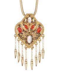 House of Harlow 1960 - Multicolor Montezuma Spiked Fringe Pendant Choker Necklace - Lyst