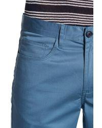 "Perry Ellis - Blue Slim Fit Stretch Pant - 30-32"" Inseam for Men - Lyst"