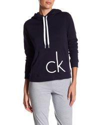 Calvin Klein | Blue Two-tone Logo Pullover | Lyst
