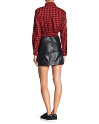 Muubaa - Black Reynolds Leather Mini Skirt - Lyst