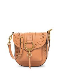 Frye - Brown Ilana Harness Perforated Leather Saddle Bag - Lyst