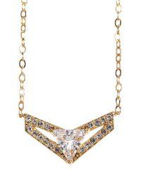 Nadri - Metallic Triangle Wing Small Pendant Necklace - Lyst