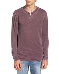 The Rail - Purple Notch Neck Thermal T-shirt for Men - Lyst