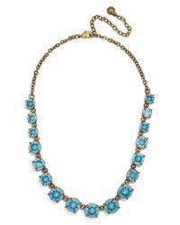 BaubleBar - Blue Crystal Collar Necklace - Lyst