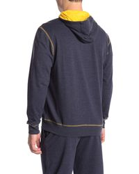 Papi Blue Lightweight Fleece Zip-up Hoodie for men