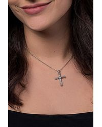 Carolyn Pollack - Sterling Silver White Moonstone Cross Pendant Necklace - Lyst