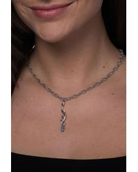 Carolyn Pollack - Sterling Silver Blue Topaz Drop Necklace - Lyst