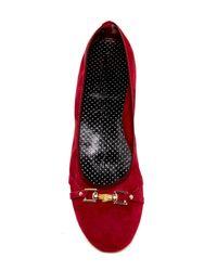 Italian Shoemakers - Red Luisa Flat - Lyst