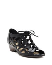 Bella Vita | Black Pixie Lace Up Cutout Leather Sandal - Multiple Widths Available | Lyst