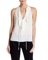 A.L.C. | White Steele Sleeveless Silk Blouse | Lyst
