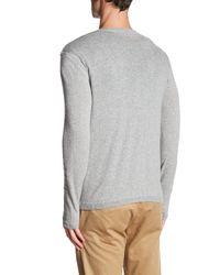 Autumn Cashmere - Gray Long Sleeve V-neck Tee for Men - Lyst