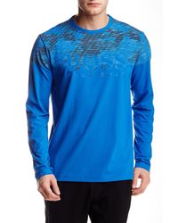 BOSS - Blue Togn Long Sleeve Modern Fit Tee for Men - Lyst
