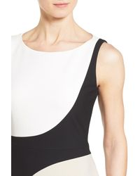 BOSS - Multicolor 'dikrysa' Two Tone Sleeveless Sheath Dress (regular & Petite) - Lyst