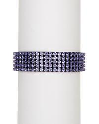 Swarovski - Purple Vilja Usb Crystal Bracelet - Lyst