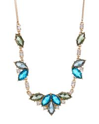 Carolee - Multicolor Marquise Cluster Frontal Necklace - Lyst
