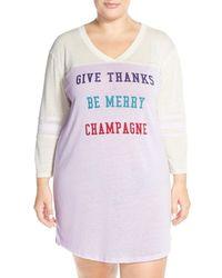 Honeydew Intimates | Multicolor 'varsitease' Cotton Blend Sleep Shirt (plus Size) | Lyst
