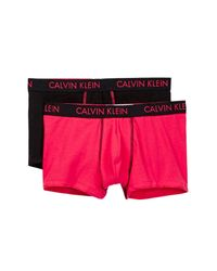 Calvin Klein | Pink Vivid Fx Low Rise Trunk - Pack Of 2 for Men | Lyst