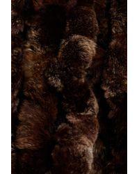 Surell Brown Genuine Rex Rabbit Fur Muffler