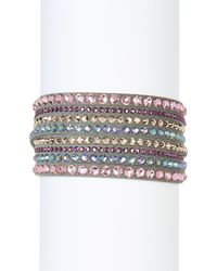 Swarovski | Gray Slake Deluxe Crystal Wrap Bracelet | Lyst