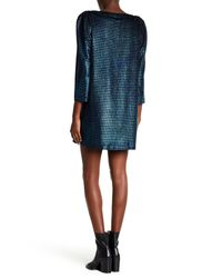Free People - Blue Diamonds Are Forever 3/4 Sleeve Metallic Dress - Lyst