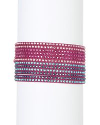 Swarovski | Multicolor Slake Multi Row Crystal Wrap Bracelet | Lyst