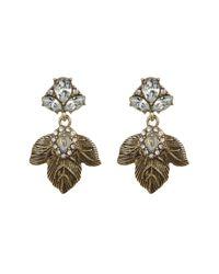 BaubleBar - Metallic Ivy Drop Earrings - Lyst
