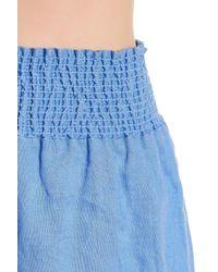 Tibi - Blue Lightweight Linen Short - Lyst