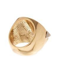 House of Harlow 1960 - Metallic Nuri Circle Ring - Size 7 - Lyst
