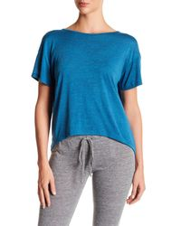 Alternative Apparel | Blue Pony Open Back Jersey Tee | Lyst