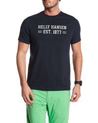 Helly Hansen | Blue Graphic Crew Neck T-shirt for Men | Lyst