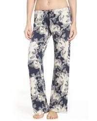 Pj Salvage - Blue Pajama Pants - Lyst
