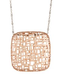Roberto Coin | Metallic 18k Rose Gold Plated Sterling Silver Skyline Pendant Necklace | Lyst