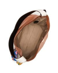 Sam Edelman | Brown Cleo Leather Hobo & Scarf | Lyst