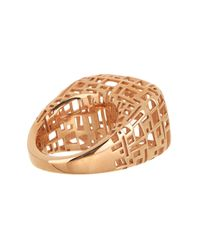 Roberto Coin - Metallic 18k Rose Gold Plated Skyline Ring - Size 7.25 - Lyst