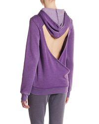 Soffe - Purple Long Sleeve Hoodie - Lyst