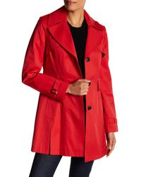 Via Spiga - Red Detachable Hood Trench Coat - Lyst