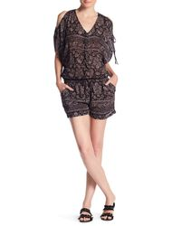 L*Space | Black Daylight Casa Blanca Drawstring Romper | Lyst
