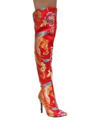 Cape Robbin - Gigi Embroidered Thigh High Boot - Lyst
