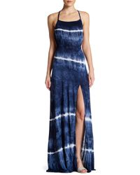 Go Couture | Blue Crisscross Back Maxi Dress | Lyst