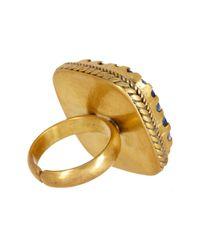 Nest - Multicolor Lapis Brass Adjustable Ring - Lyst